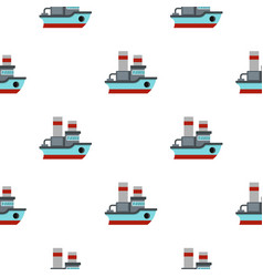 small ship pattern flat vector image