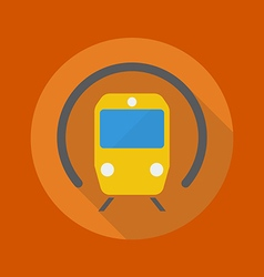 Transportation flat icon subway vector