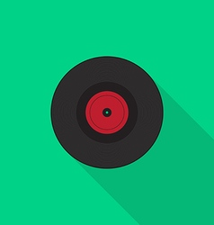Vinyl record icon flat design vector