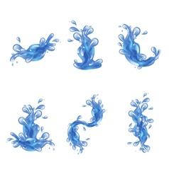 Water splash set vector