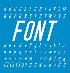 Italic font family and alphabet font design vector
