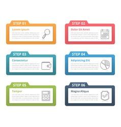 Infographic elements - six steps vector