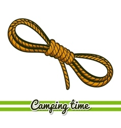 Camping equipment rope vector