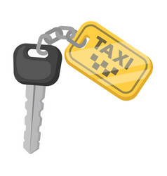 The ignition key for a yellow taxi taxi station vector