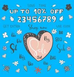 Cartoon big sale set make your own sale banner vector