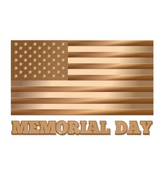 Memorial day gold united states of america flag vector