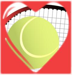Love tennis vector