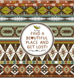 Hipster seamless aztec pattern with geometric vector