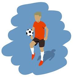 kicking the ball vector image