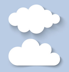 White clouds paper banners for your design vector