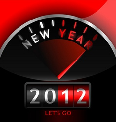 2012 counter on the dashboard vector image