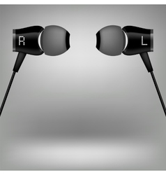 Grey headphones vector