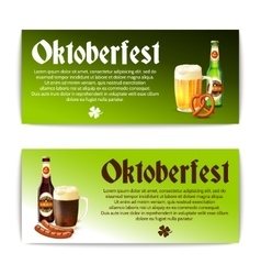 Beer banner horizontal set vector