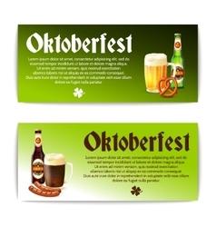 Beer Banner Horizontal Set vector image