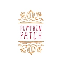 Pumpkin patch - typographic element vector