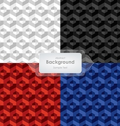 Abstract background 4 colors tone template vector