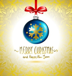Christmas ball christmas tree decorations blue vector