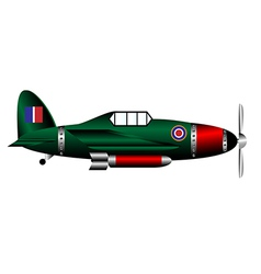 British ww2 fighter on white vector