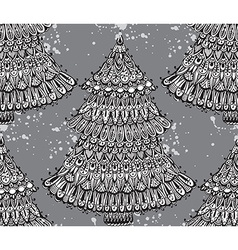 Seamless pattern with hand drawn doodle christmas vector