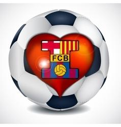 I love fc barcelona vector