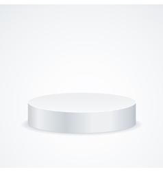 Realistic round empty podium vector