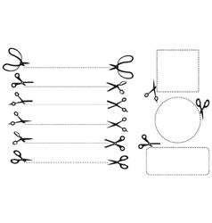Scissor Cutting vector image