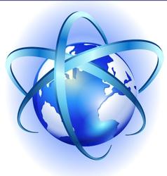 Spinning globe logo vector