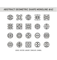 Abstract geometric shape monoline 62 vector