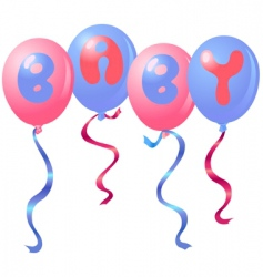 baby balloons vector image