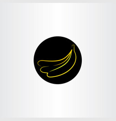 banana icon design sign vector image