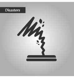 Black and white style disaster tornado vector