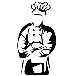 Chef folded arms vector