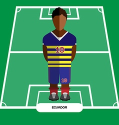 Computer game ecuador football club player vector