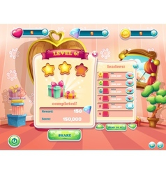 Example of the user interface of a computer game vector image vector image