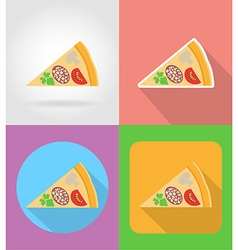 fast food flat icons 12 vector image vector image