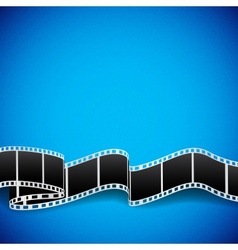 Film reel background vector image