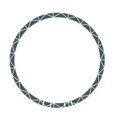 Frame round decoration geometric desing image vector