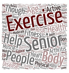 Health and fitness for people above text vector