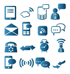 Icon set of telecommunication vector image