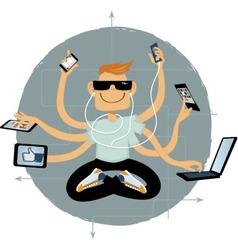 Internet superhero vector image vector image