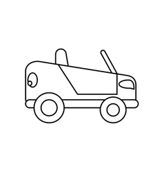 Isolated car silhouette design vector