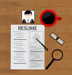 job hunting vector image