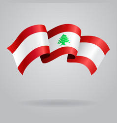 Lebanese waving flag vector
