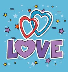 Love cute pop art vector