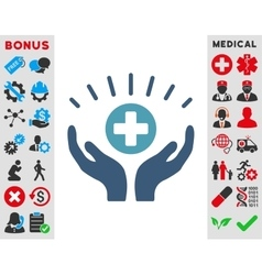 Medical prosperity icon vector