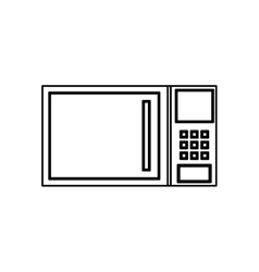 Microwave kitchen appliance vector