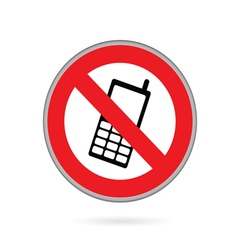 Mobile phone no sign vector