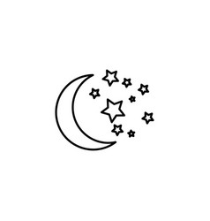 moon with stars icon vector image