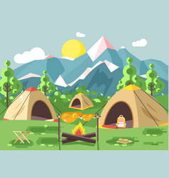 Nature national park landscape vector
