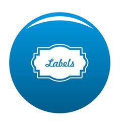 Nice label icon blue vector